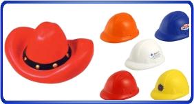Balle anti stress personnalisé, balles anti stress en forme de chapeaux, article promotionnel économique