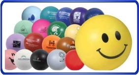 Balle anti stress personnalisé, balles anti stress en forme ronde, article promotionnel économique