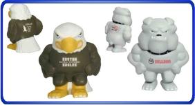 Balle anti stress personnalisé, balles anti stress en formes de différentes mascottes, article promotionnel économique