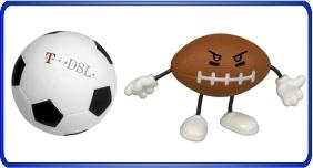 Balle anti stress personnalisé, balles anti stress relier au sports, article promotionnel économique