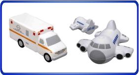 Balle anti stress personnalisé, Balles anti stress relier au véhicules et le transport, article promotionnel économique